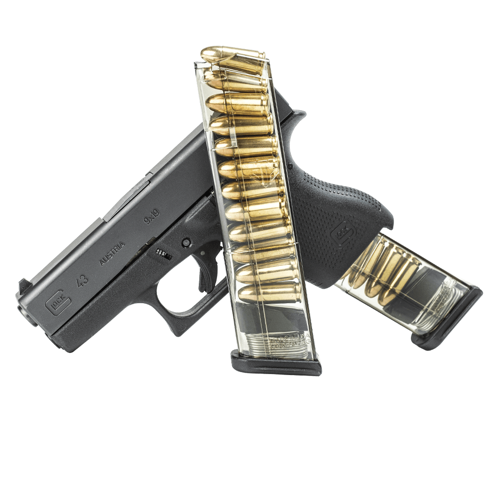 Firearm clip high capacity. Ets glock mm round