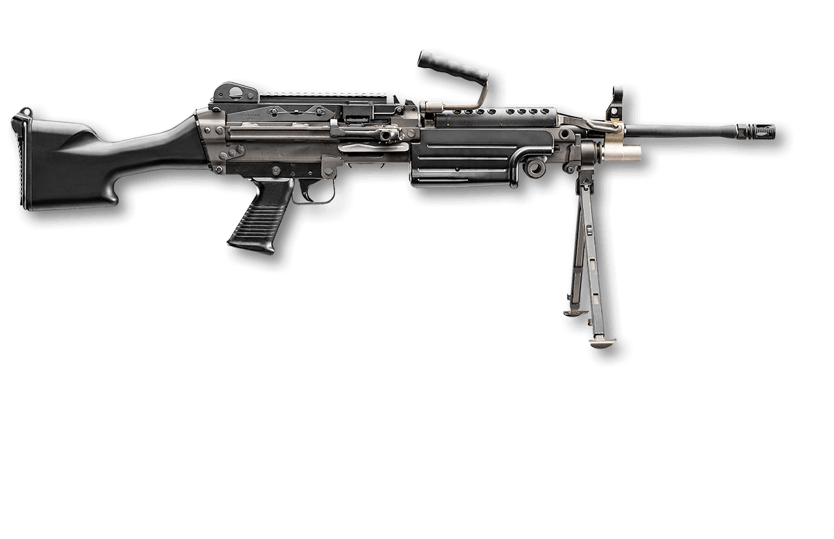 Firearm clip machine gun. Fn m s