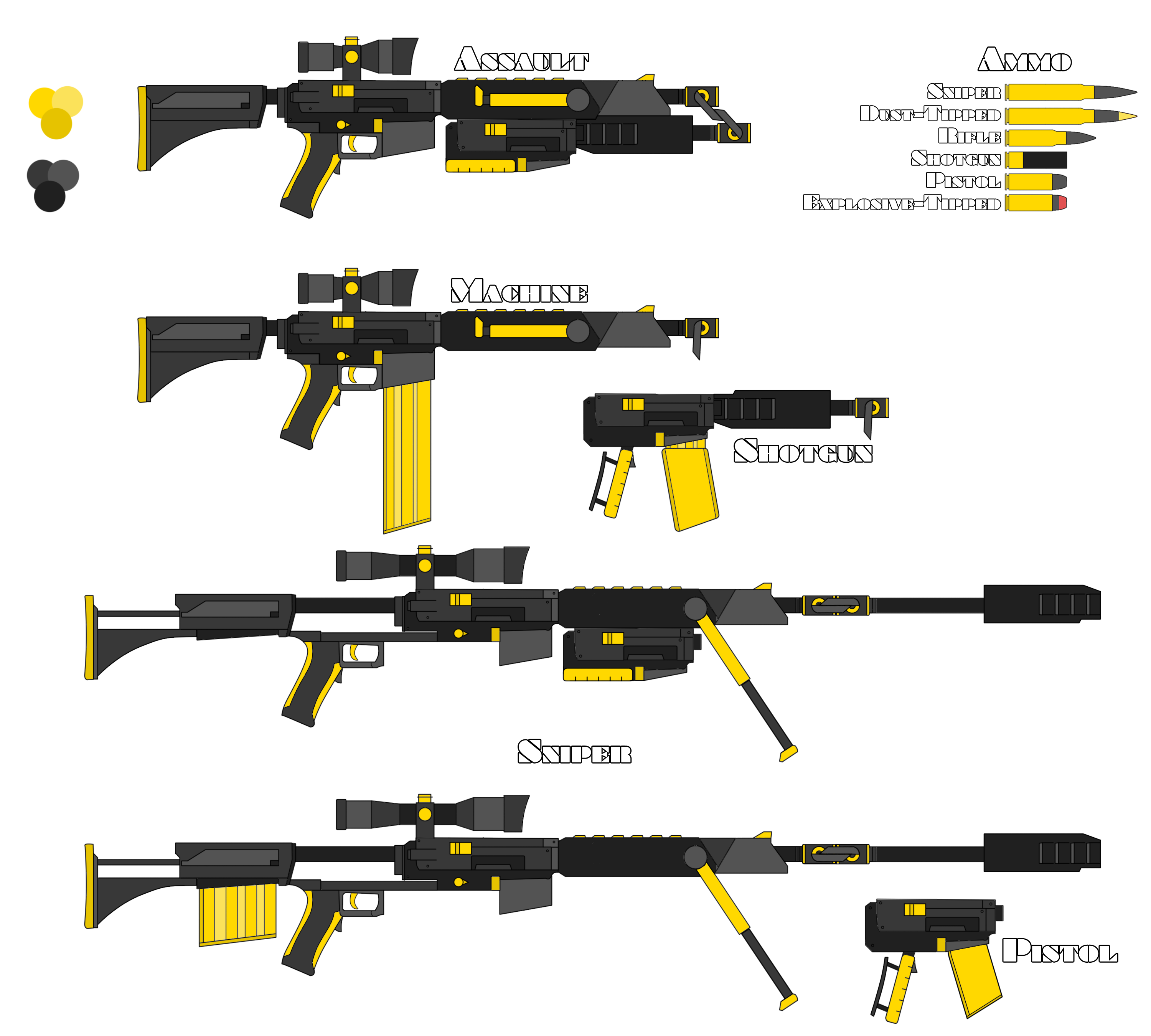 Firearm clip machine gun. Fool s gold rwby