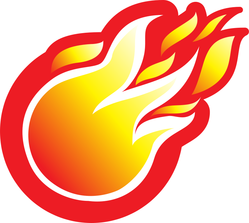 Cartoon flames png. Free fireball clipart download