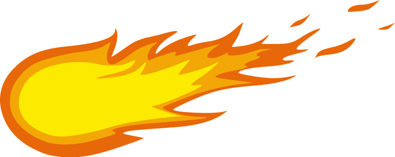Fireball clipart cartoon.