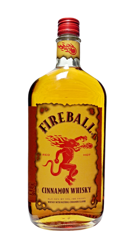 Fireball whiskey label png