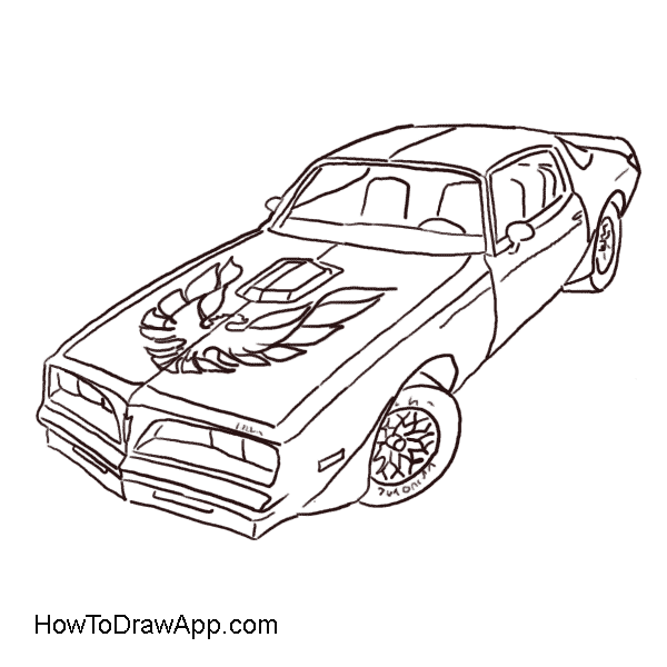 Firebird drawing. How to draw a