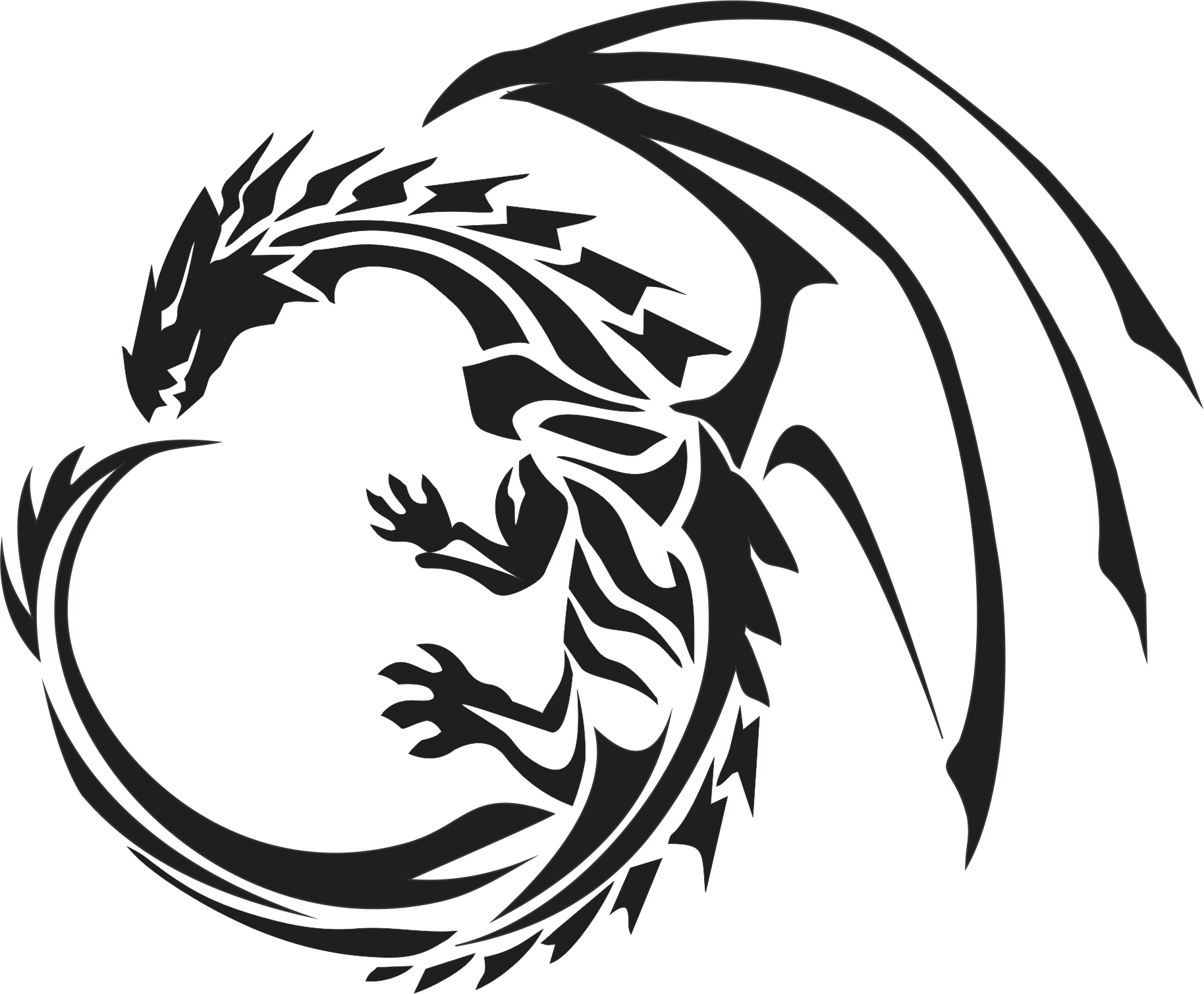 Firebird drawing celtic. Dragon png images free