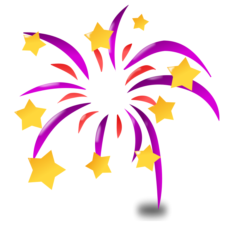 Streamers vector pink purple. Fireworks firecrackers animations clipart