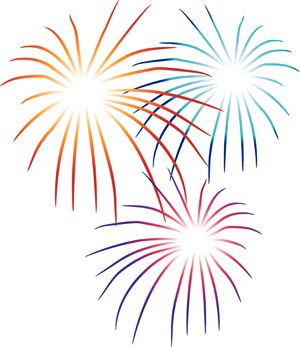 Party plan a th. Fireworks clipart svg transparent stock