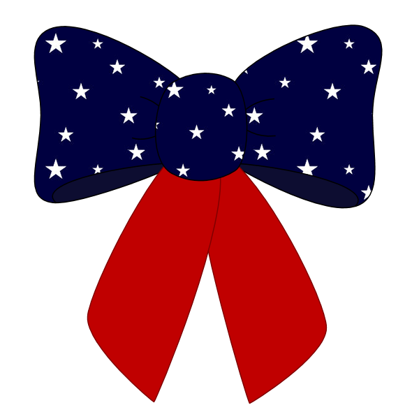 American clipart ribbon. Free th of july
