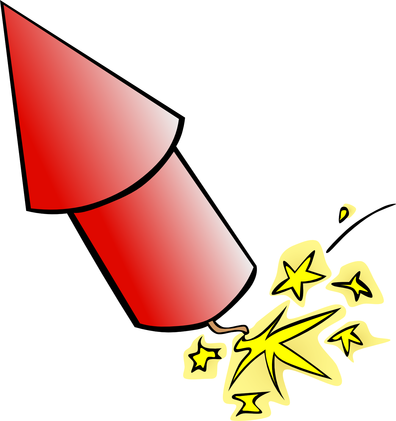 Firecracker clipart simple. Free cartoon pictures of