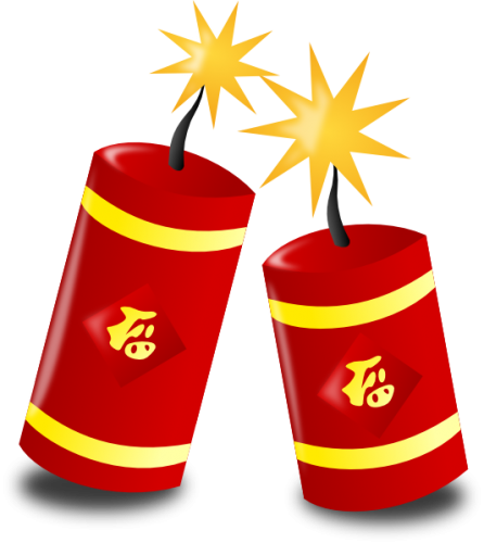 Firecracker clipart simple. Chinese new year firecrackers