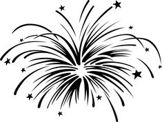 Firecracker clipart simple. Fireworks pattern use the
