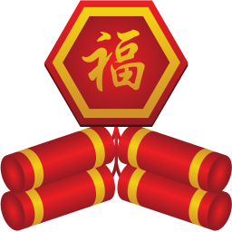 Firecracker vector chinese new year. Icon iconset goldcoastdesignstudio