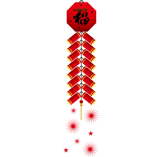 Firecracker vector chinese new year. Collection of icons free