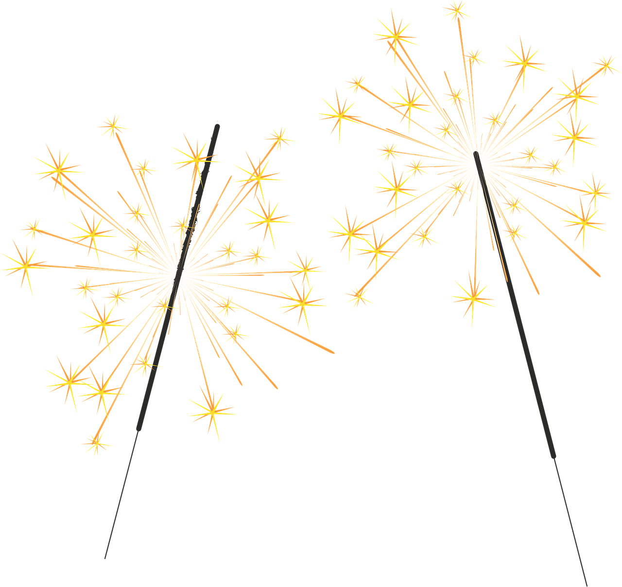 Firecracker vector sparkler. Collection of free festivities