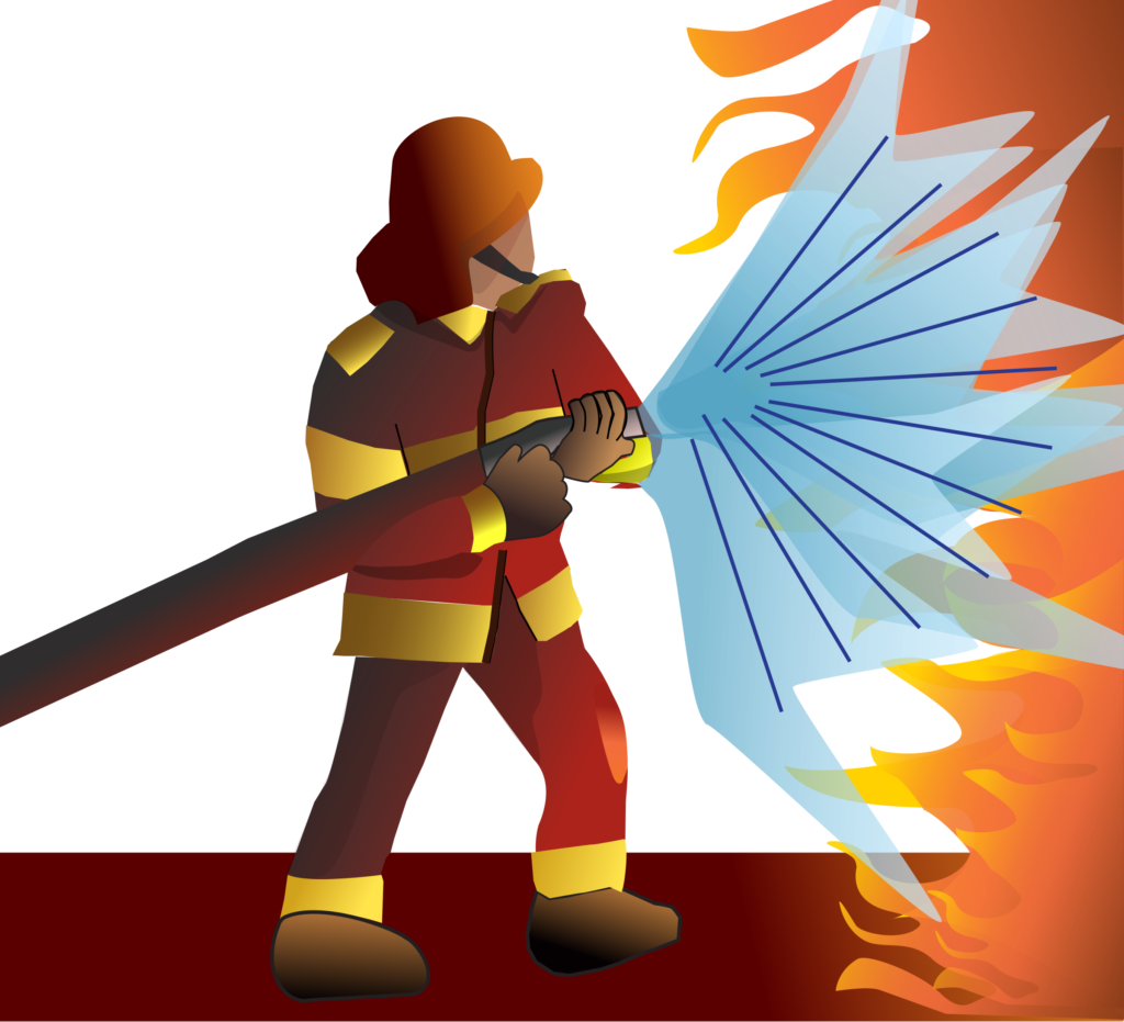 Firefighter clipart bumbero. Image of a typegoodies