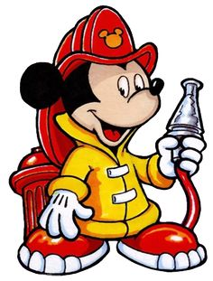 Firefighter clipart five. Mickey mouse number fireman