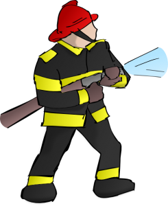 Firefighter clipart male firefighter. Panda free images