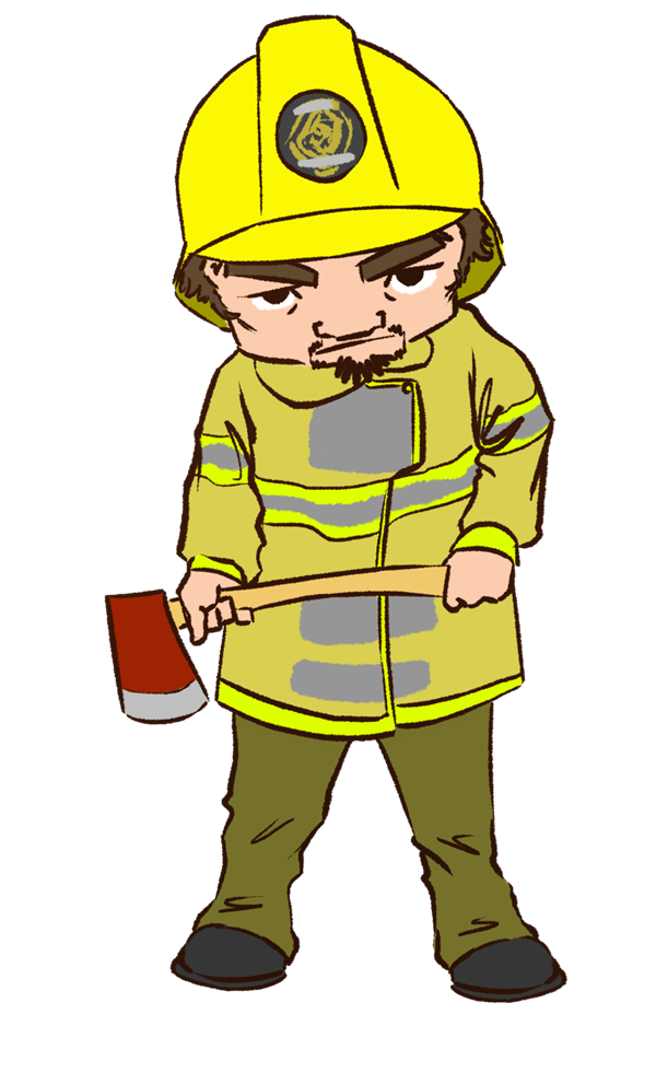 Firefighter clipart male firefighter. Free fireman picture download