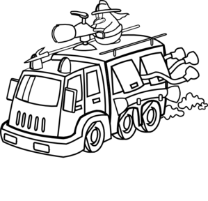 Firefighter clipart outline. Black and white panda