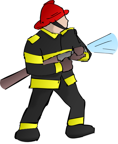 Fireman clipart month. Free cartoon firefighter pictures
