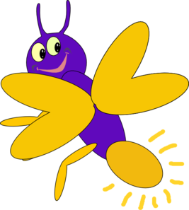Firefly clipart. Purple clip art at