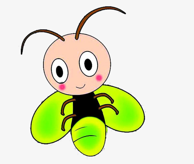 Firefly clipart. Green antenna png image