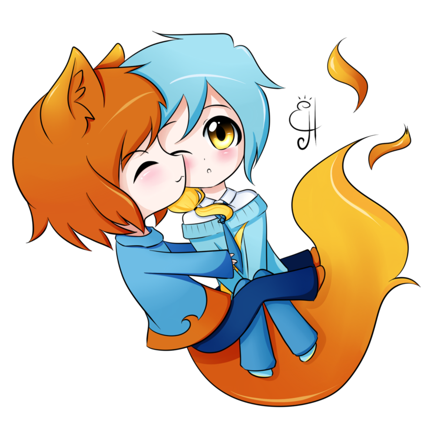 Firefox drawing. Special hug by exceru