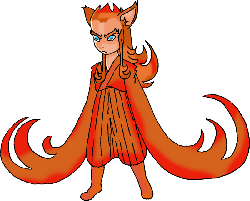 Firefox drawing red tailed. Demon by violetdemon on