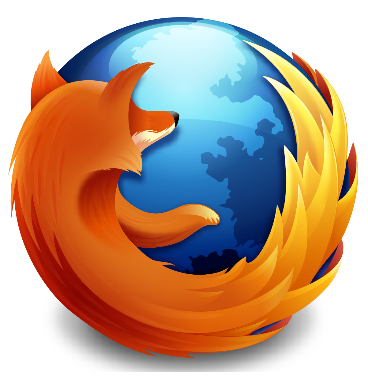 Firefox drawing red fox. Making the logo from