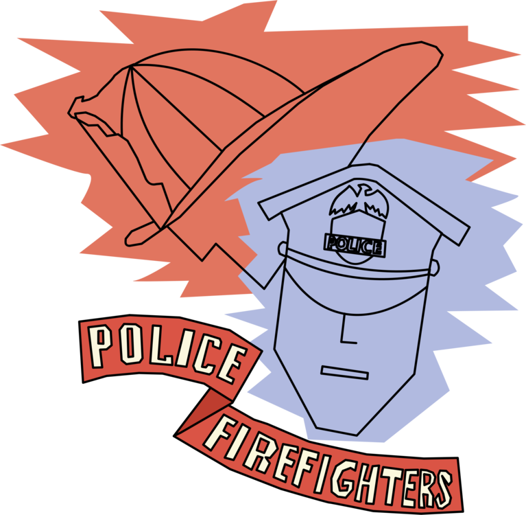 Patrol clipart fire. Firefighter police officer department