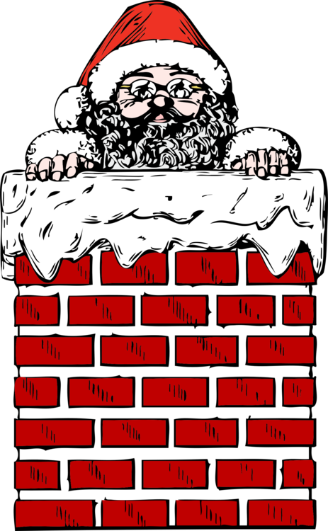 Chimney clipart. Santa claus sweep fireplace