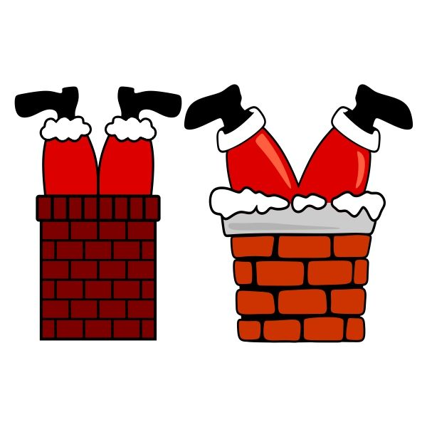 Fireplace clipart santa. Claus stuck in the