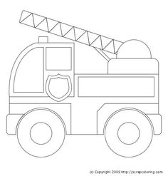 Firetruck clipart outline. Clip art black and