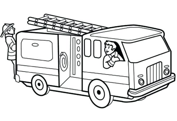 Firetruck clipart outline. Fire truck related to