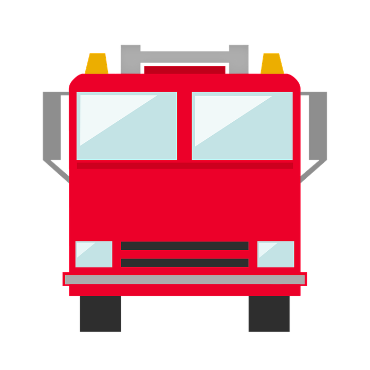 Firetruck clipart vector. Free fire truck icon