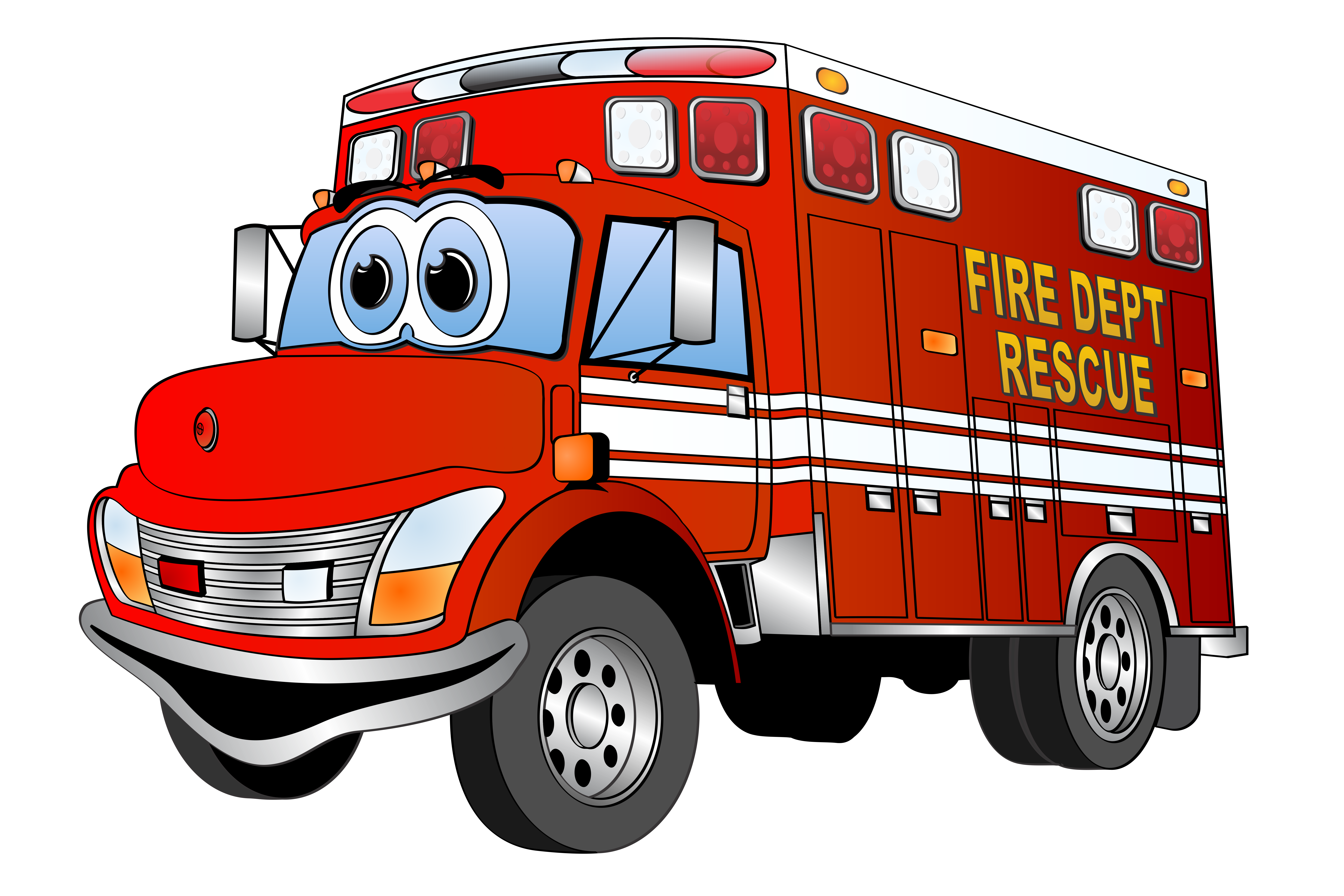Firetruck vector animated. Collection of free
