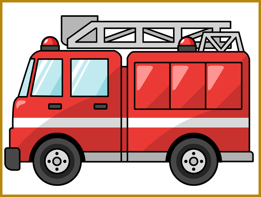 Firetruck vector clipart. Image royalty free