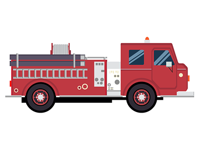 Firetruck vector design. Check out new work