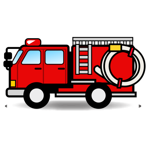 Firetruck vector red. Image royalty free