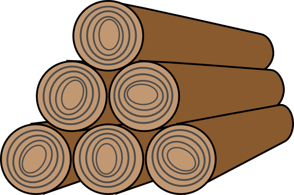 Woods clipart. Free stacked firewood cliparts