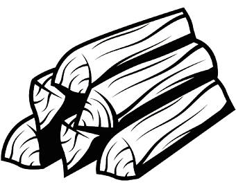 firewood clipart black and white