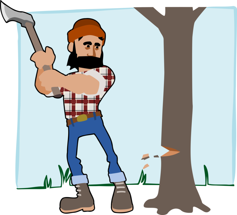 Lumberjack clipart chop wood. Axe free commercial tree