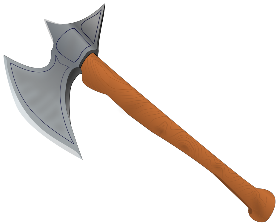 Hammer clipart medieval. Middle ages battle axe