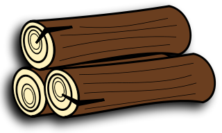 Log clipart. Firewood and logs