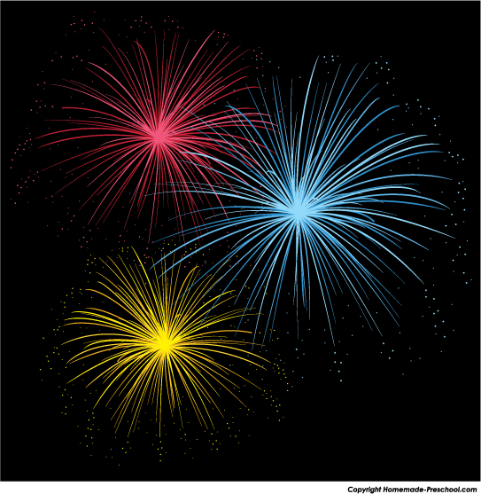Years free clipart fireworks. Firework animations greentral com