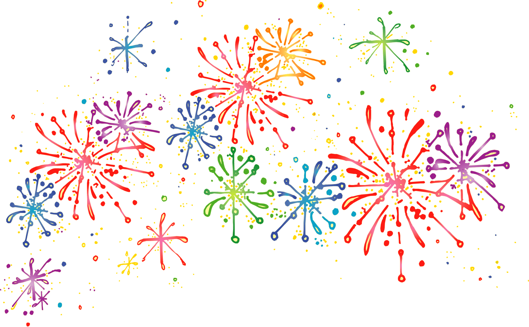 Firework png transparent. Cartoon fireworks stickpng