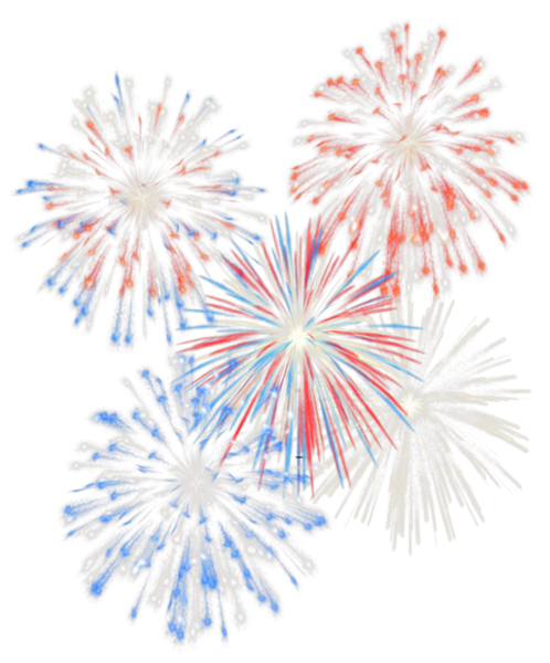 red white and blue fireworks png #66869575