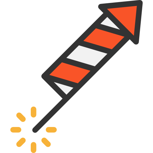 Firework rocket png. Icon page svg psd