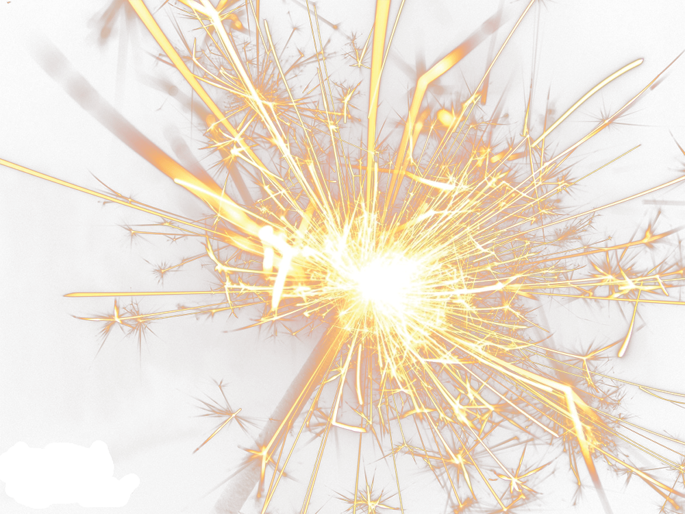 Sparkler png. Bright sparks transparent stickpng