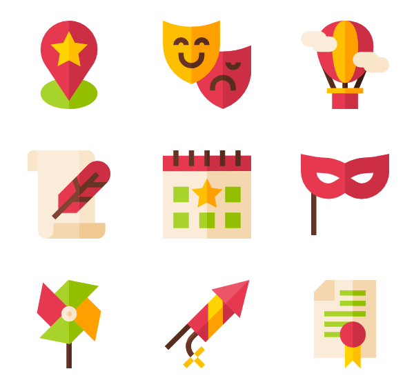 Firecracker vector file. Fireworks icons free parade
