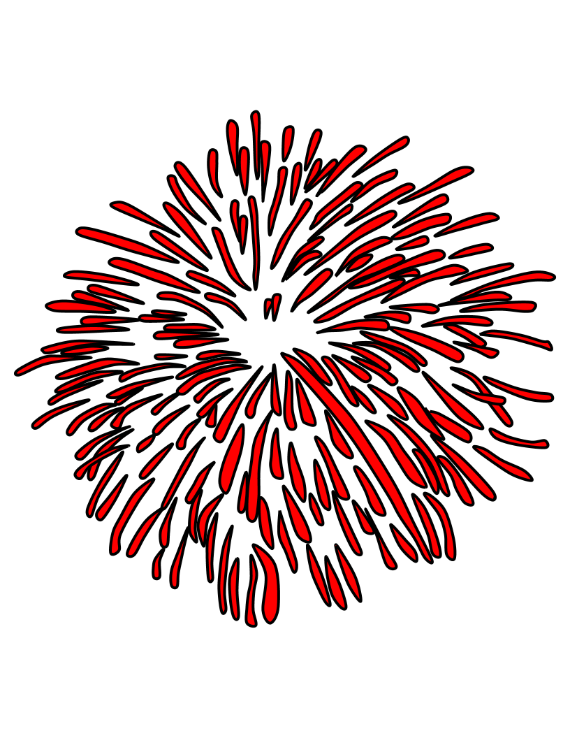 Fireworks clip burst. Clipartshare style red png